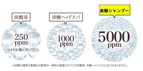 SIMFORT 8,000ppmの炭酸濃度